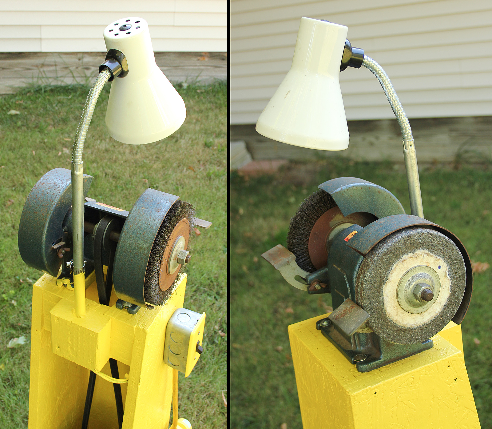 Awe Inspiring Old Fashioned Bench Grinder Stand Swvincent Com Onthecornerstone Fun Painted Chair Ideas Images Onthecornerstoneorg